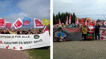 ver.di-Demos bei den Landtagsfraktionen von SPD und CDU 2019